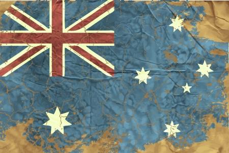 australian culture: Vintage Australian Flag