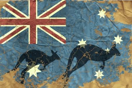 grunge union jack: Vintage Australian Flag