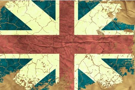 bandera de gran bretaña: Vintage bandera de Inglés