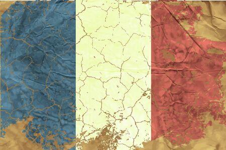 french flag: Vintage French flag