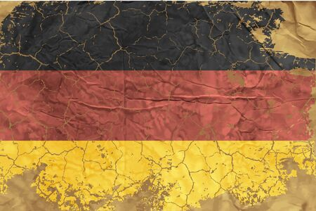 Vintage German flag Vector