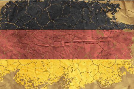 german flag: Vintage German flag Illustration