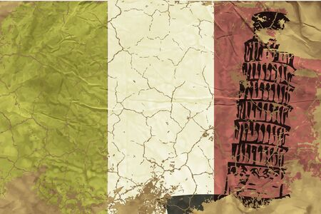 Vintage Italian flag Ilustracje wektorowe