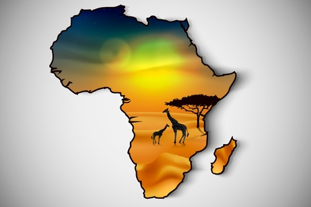africa, savannah fauna and flora Stock Vector - 16503529