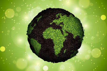 green planet grass Stock Vector - 16503498