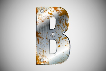 Metal letters of the alphabet B Stock Vector - 16503515