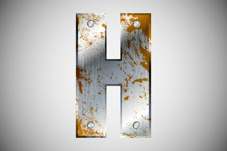 Metal letters of the alphabet H Stock Vector - 16503522