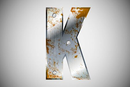 Metal letters of the alphabet K Stock Vector - 16503502