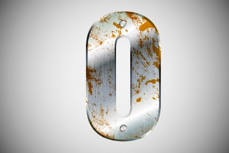 metal letters: Metal letters of the alphabet O Illustration