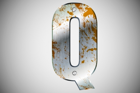 Metal letters of the alphabet Q Stock Vector - 16503521
