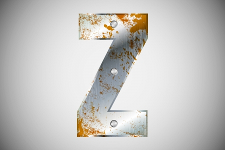 Metal letters of the alphabet Z Stock Vector - 16503481