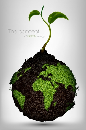 the concept of green energy on the planet Vector