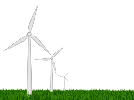 The concept of green energy  vector wind turbines Vector
