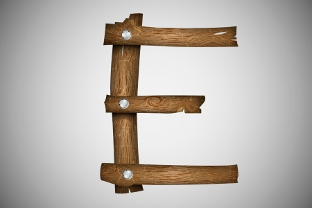 Wooden alphabet letter E Stock Vector - 16493349