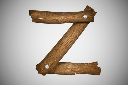 Wooden alphabet letter Z Stock Vector - 16493314