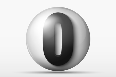 3D ball with the number 0 Stock Vector - 16700210