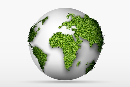 Globe with a green grass Stock Vector - 16700171