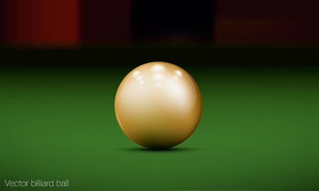 realistic billiard ball on a pool table Stock Vector - 16700160