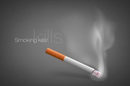 smoldering cigarette with a smoke Stock Vector - 16700170