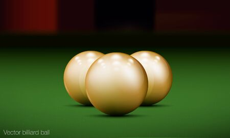 realistic billiard ball on a pool table Vector