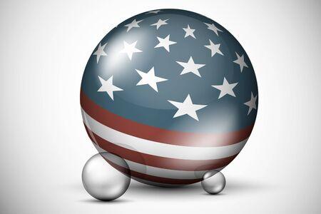 3D USA flag on the ball field Stock Vector - 16900397