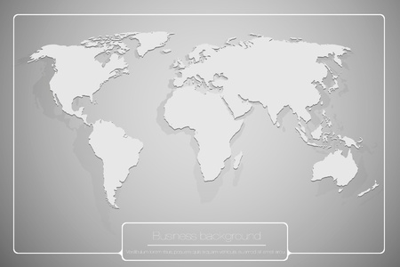 abstract business background with world map Stock Vector - 16900390