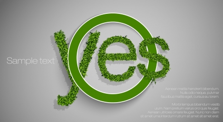 Allowing the sign - yes Stock Vector - 16900411