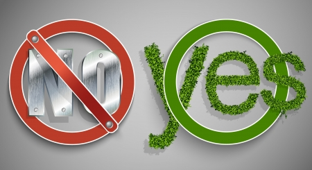 Banning and prohibiting sign, yes and no Stock Vector - 16900409