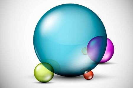 Colorful, 3D glass balls Stock Vector - 16900396