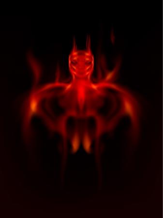 Devil, Satan from fire Stock Vector - 16900393