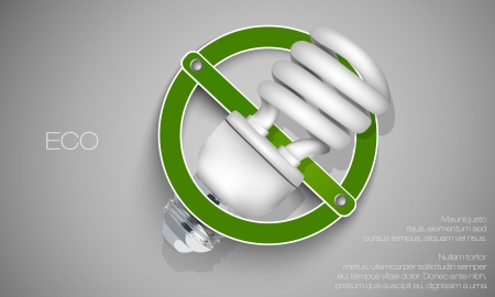 voltaic: Energy saving light bulb for a permitted sign Illustration