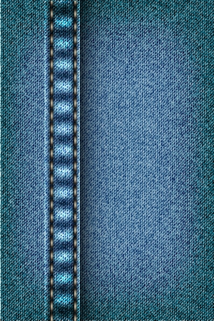 Jeans texture with seam Stock Vector - 16900412