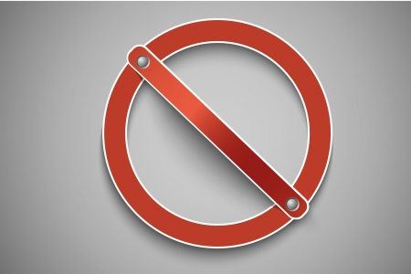 exclusion:  prohibition sign red Illustration