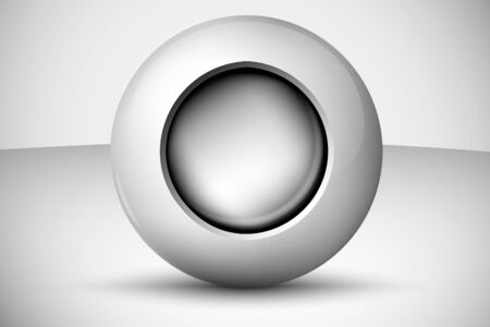3D ball with ball inside Vector
