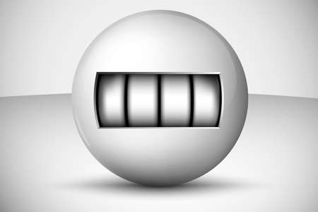 3D Ball with numbers, counter Vector