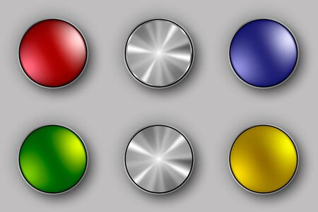 colored and metallic buttons Stock Vector - 17535840