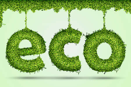 concept of ecology  eco grass Stock Vector - 17535714