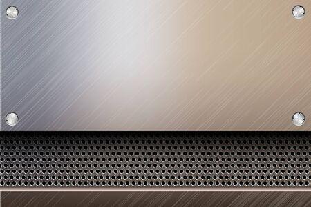 metallic steel background Stock Vector - 17535729