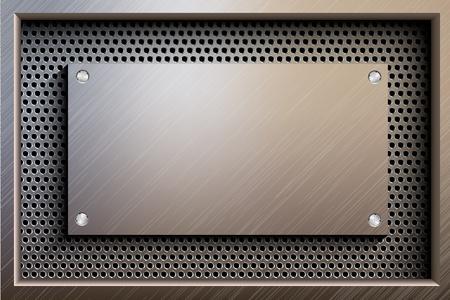 metallic steel background Stock Vector - 17535844