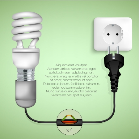 concept of clean energy in the home Vector
