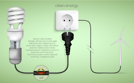 concept of clean energy in the home Stock Vector - 17535600
