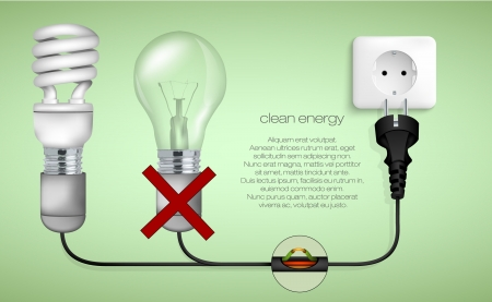 concept of clean energy in the home Stock Vector - 17535718