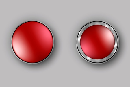 Vector red button switch Stock Vector - 17535587