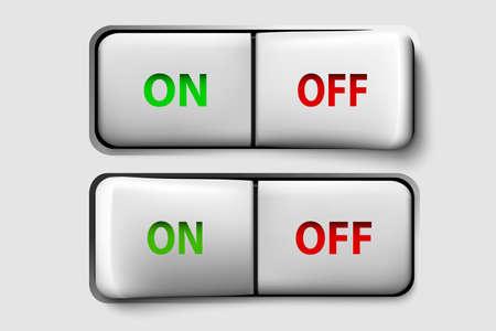 Vector button switch Stock Vector - 17535581