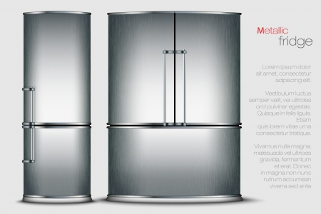 VECTOR metallic refrigerator Vector