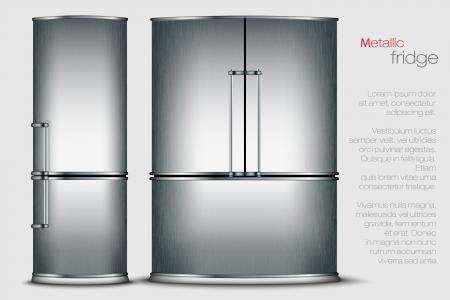 VECTOR metallic refrigerator Stock Vector - 17535721