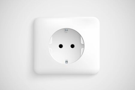 white socket with ground Stock Vector - 17535598