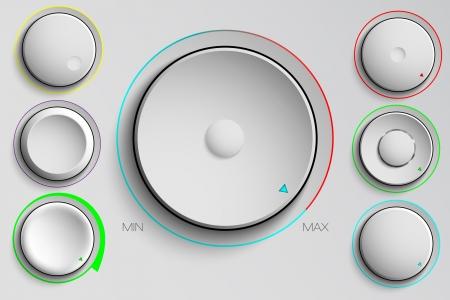 minimální: vektor sada tlačítek, ovládání hlasitosti Ilustrace