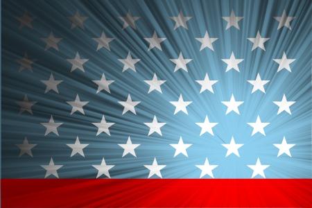 Amerikaanse vlag met de stralen