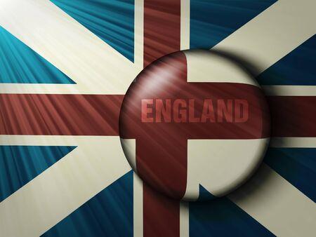 union flag: British flag with the rays Illustration